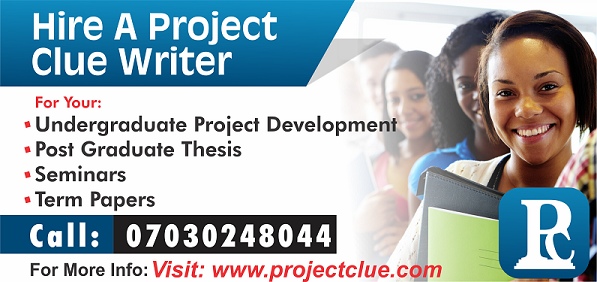 Undergraduate Project Topics, Research Works and Materials
